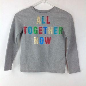 Glittery spellout sweatshirt